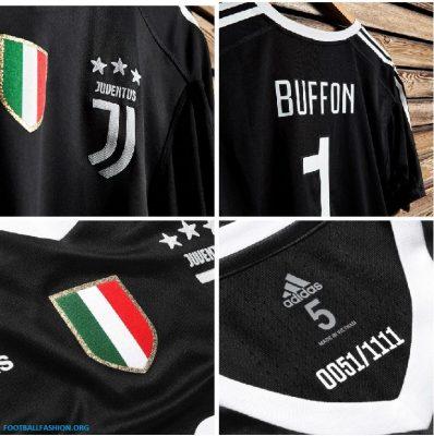 Juventus x Gigi Buffon 2018 adidas Black Football Kit, Soccer Jersey, Shirt, Gara, Maglia Nera