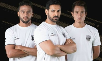 NorthEast United FC 2017 2018 Home Football Kit, Soccer Jersey, Shirt