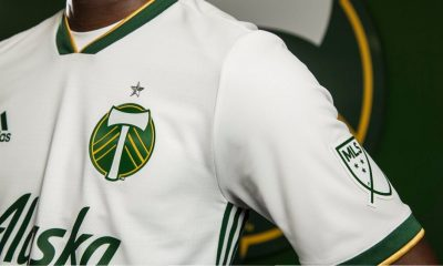 Portland Timbers 2018 adidas White Away Soccer Jersey, Football Kit, Shirt, Camiseta de Futbol