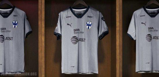 Rayados de Monterrey 2018 PUMA Gray Third Football Kit, Soccer Jersey, Shirt, Camiseta de Futbol Tercera
