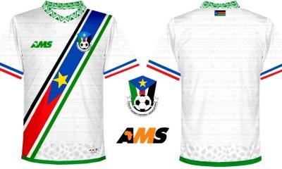 South Sudan 2018 AMS Home and Third Football Kit, Soccer Jersey, Shirt