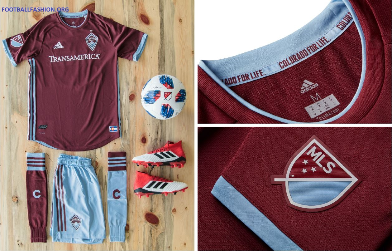 Colorado Rapids 2018 adidas Home Kit – FOOTBALL FASHION.ORG 18c73941e