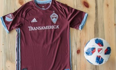Colorado Rapids 2018 adidas Home Soccer Jersey, Football Kit, Shirt, Camiseta de Futbol MLS