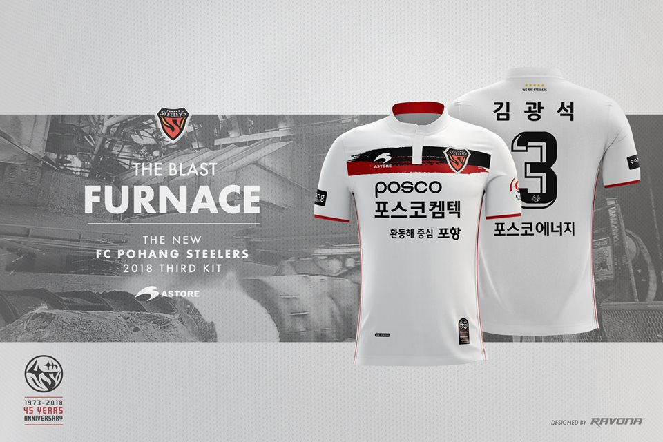 6fc6c50d499 Pohang Steelers 2018 Astore Home and Away Football Kit, Soccer Jersey, Shirt