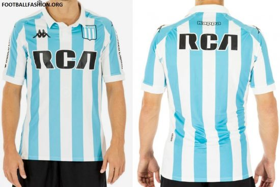 Racing Club 2018 Kappa Home Home Football Kit, Soccer Jersey, Shirt, Camiseta de Futbol