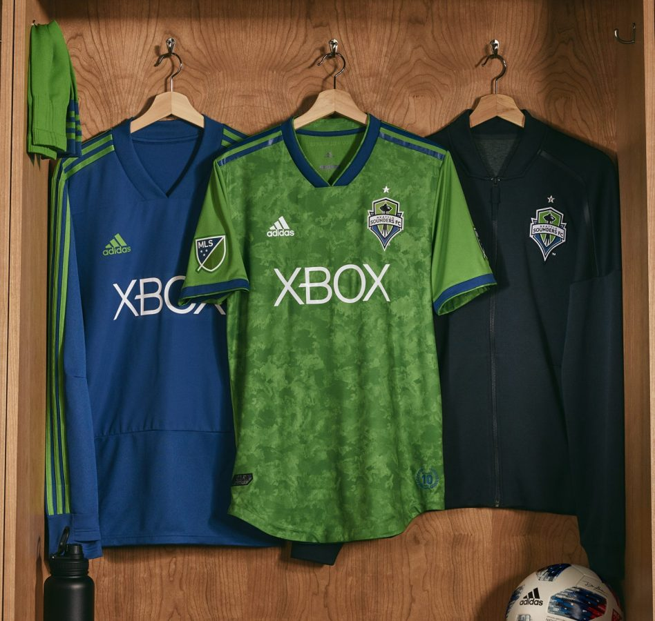 buy online 4b3b8 a2ba5 Seattle Sounders FC 2018 adidas Home Jersey - FOOTBALL ...