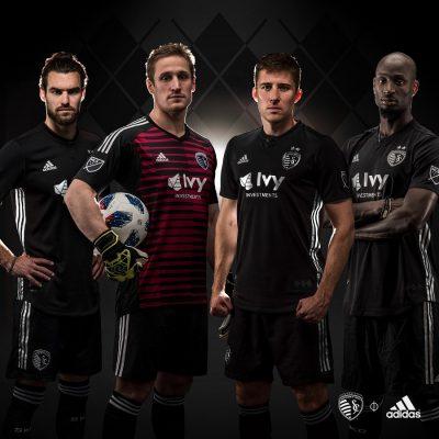Sporting Kansas City 2018 adidas Away Soccer Jersey, Football Kit, Shirt, Camiseta de Futbol