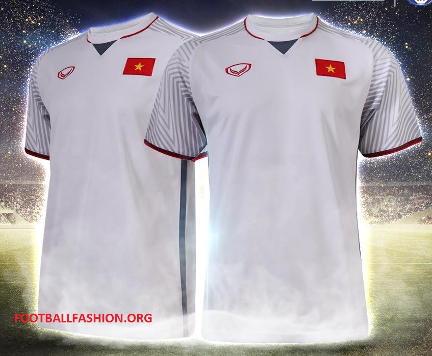 Red shorts and socks and white shorts and socks complete the Vietnam 2018  Grand Sport home and away kits. febd126f1
