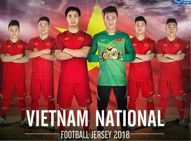huge discount 0aa26 7ea93 Vietnam 2018 Grand Sport Home and Away Kits - FOOTBALL ...