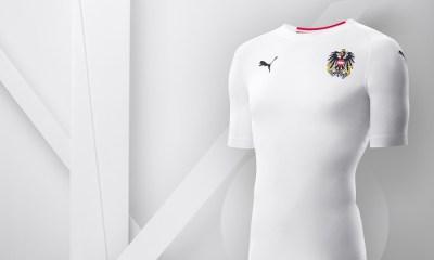 Austria 2018 2019 PUMA White Away Football Kit, Soccer Jersey, Shirt, Österreich Trikot
