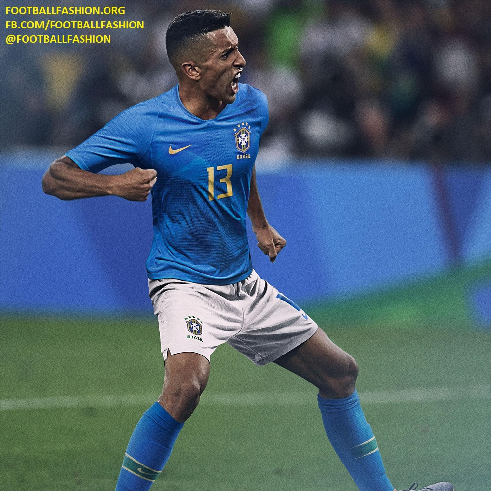 brand new b379d fbf73 Brazil 2018 World Cup Nike Home and Away Kits - FOOTBALL ...