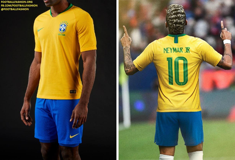 brazil 2018 world cup nike home and away kits football