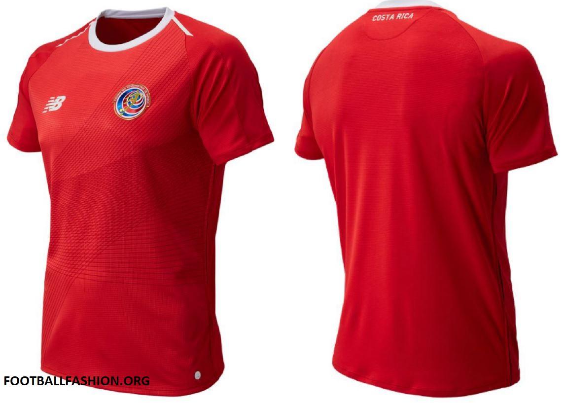 Costa rica world cup new balance red home football kit soccer jersey shirt  jpg 1144x817 Costa 31a23941b