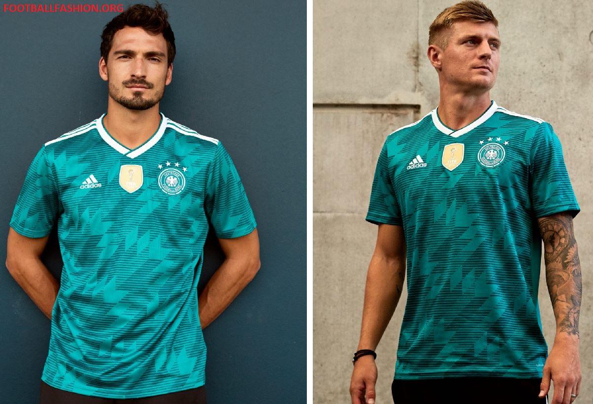 e14b582e031 Germany 2018 FIFA World Cup adidas Green Away Football Kit, Shirt, Soccer  Jersey,