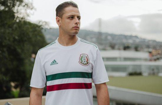Mexico 2018 World Cup adidas White Away Soccer Jersey, Football Kit, Shirt, Camiseta de Futbol, Equipacion, Playera, Uniforme, Copa Mundial Rusia