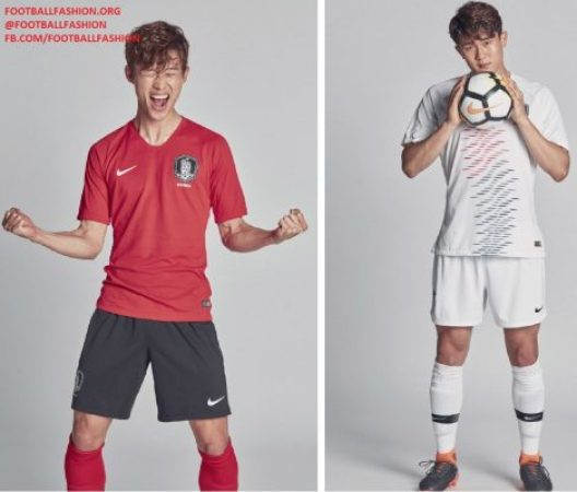 South Korea 2018 2019 World Cup Nike Home and Away Football Kit, Soccer Jersey, Shirt, Camisa, Camiseta, Trikot, Maillot