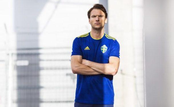 Sweden 2018 World Cup 2019 Blue adidas Away Football Kit, Soccer Jersey, Shirt, Sverige SvFF matchtröja