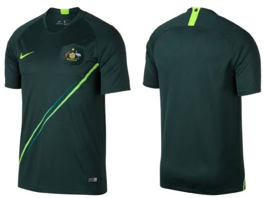Australia 2018 World Cup Nike Home and Away Football Kit, Soccer Jersey, Shirt