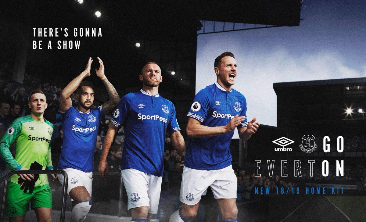 d7352c71da Everton FC 2018 2019 Umbro Home Football Kit, Soccer Jersey, Shirt,  Camiseta,