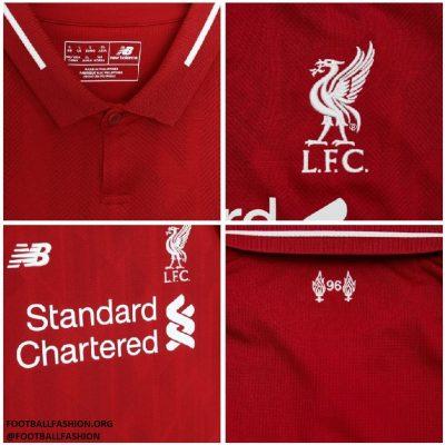 Liverpool FC 2018 2019 Red New Balance Home Football Kit, Soccer Jersey, Shirt, Camiseta, Camisa, Maillot, Trikot