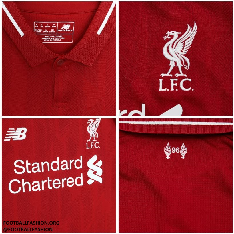 c896eca0a Liverpool FC 2018 19 New Balance Home Kit - FOOTBALL FASHION.ORG