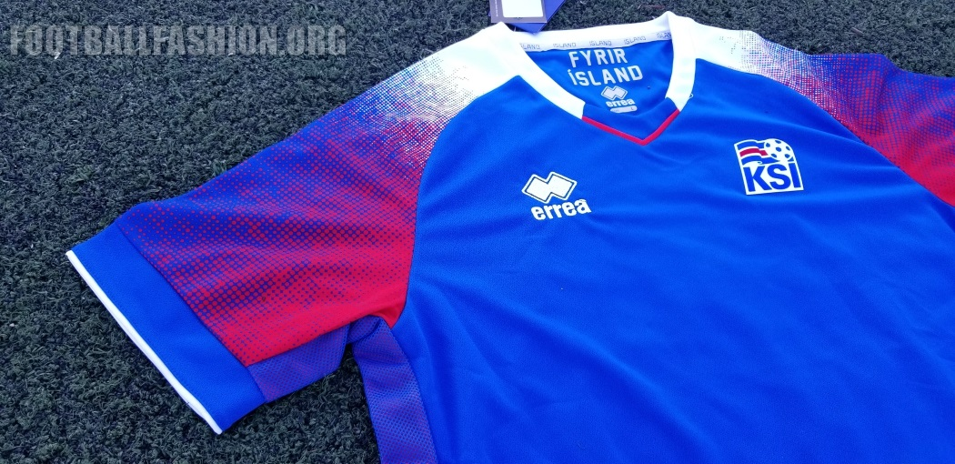 new arrival 7ee9a 79e92 Up-Close: Iceland 2018 World Cup Errea Home and Away Jerseys ...
