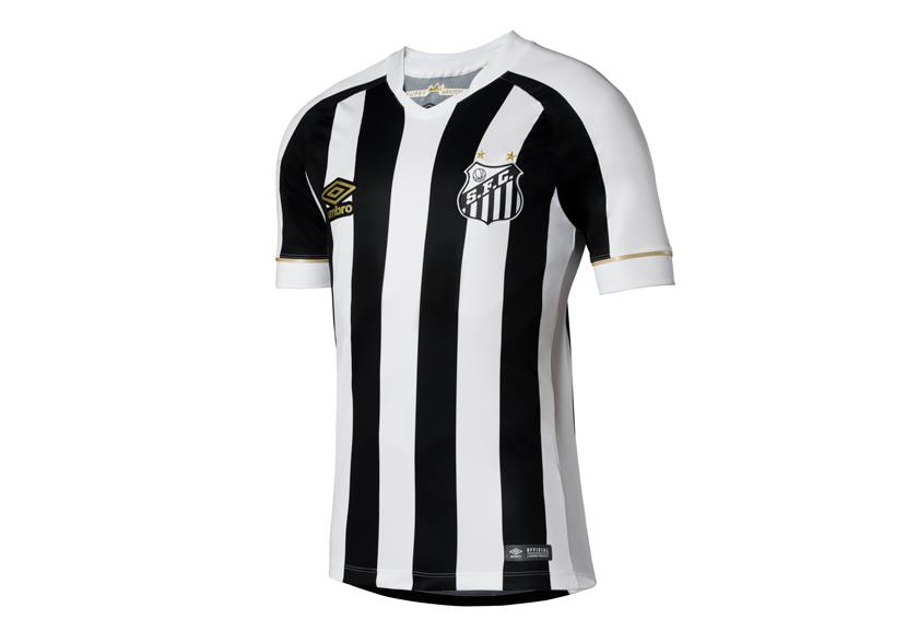 54c2a12f0 ... logos embroidered while the GAME version sees them applied thermo  transfer and 3D patch twill. Santos  players will wear the GAME kits in  match play.