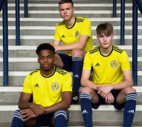 Scotland 2018 2019 adidas Away Football Kit, Soccer Jersey, Shirt