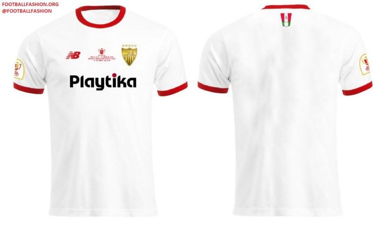 Sevilla FC 2018 Copa del Rey Final New Balance Football Kit, Soccer Jersey, Shirt, Camiseta de Futbol, Equipacion, Maillot, Trikot, Tenue