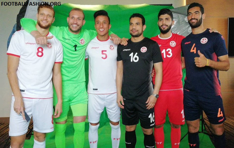 d65b287a9 Tunisia 2018 World Cup uhlsport Home and Away Football Kit, Soccer Jersey,  Shirt,