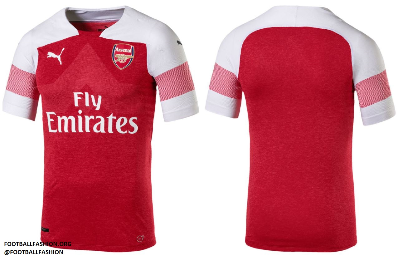 9fa1b538f Arsenal FC 2018 19 PUMA Home Kit – FOOTBALL FASHION.ORG