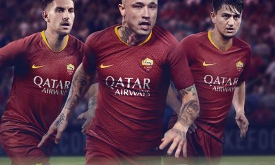 AS Roma 2018 2019 Nike Home Football Kit, Soccer Jersey, Shirt, Gara, Maglia, Camisa, Camiseta