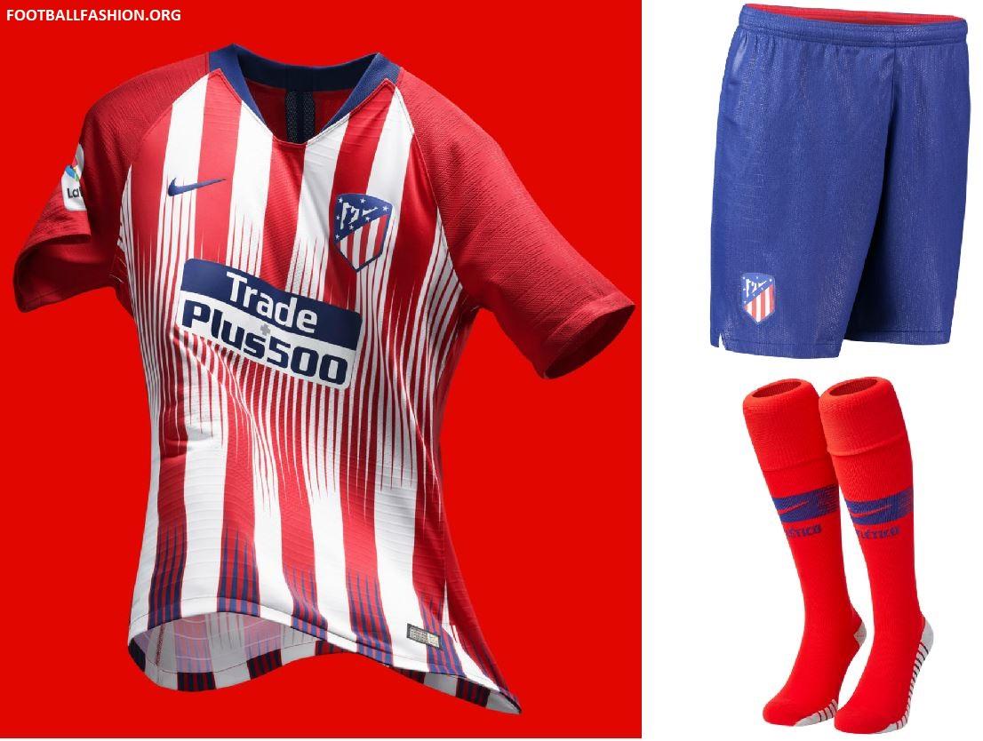 b5431cde1d Atlético de Madrid 2018 19 Nike Home Kit – FOOTBALL FASHION.ORG