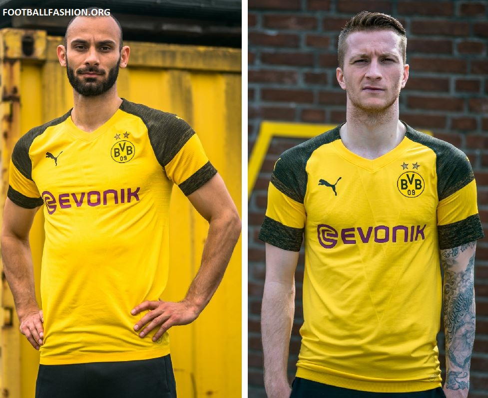 more photos b844b 6b9ba Borussia Dortmund 2018/19 PUMA Home Kit - FOOTBALL FASHION.ORG