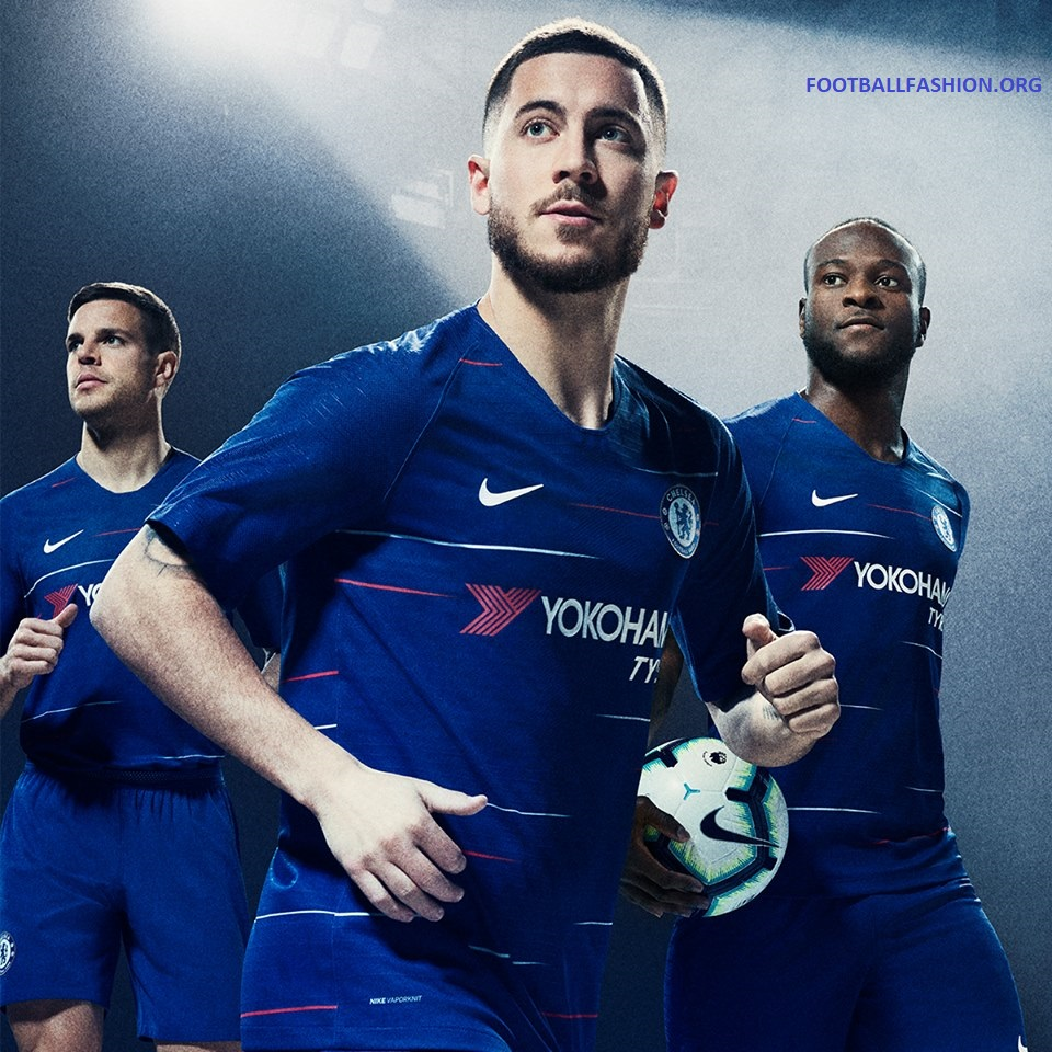c6c100d1599 Chelsea FC 2018 2019 Nike Home and Away Football Kit, Soccer Jersey, Shirt,