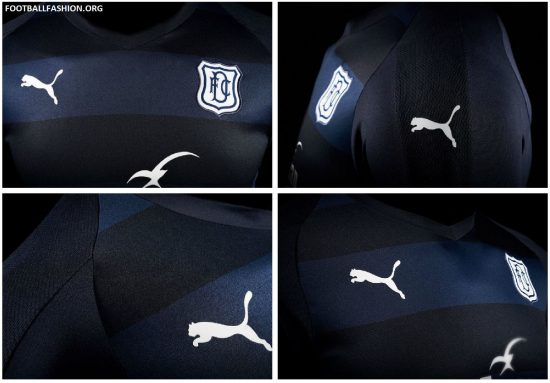 Dundee FC 2018 2019 PUMA Home Football Kit, Soccer Jersey, Shirt