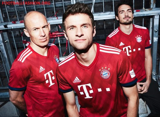 Bayern Munich 2018 2019 adidas Home Football Kit, Soccer Jersey, Shirt, Trikot, Maillot, Tenue, Camisa, Camiseta