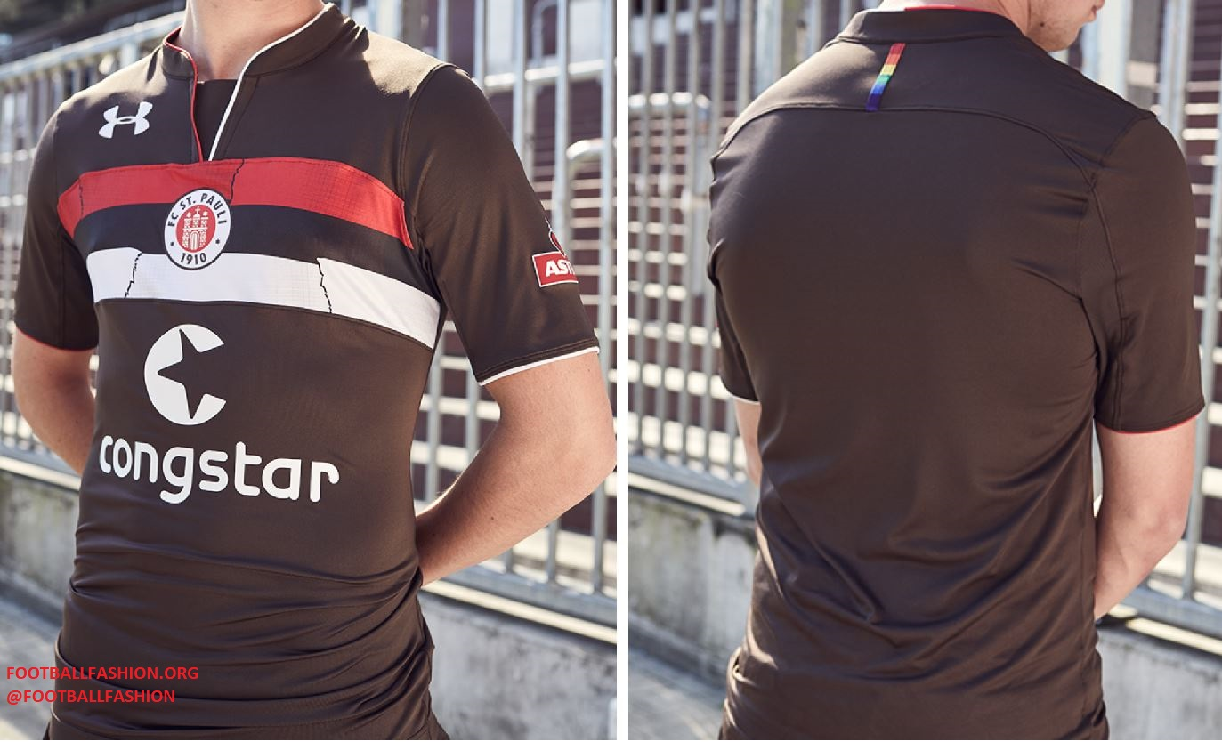 St Pauli Football Home Jersey Shirt Tee Top 2018 19 Kids Under Armour