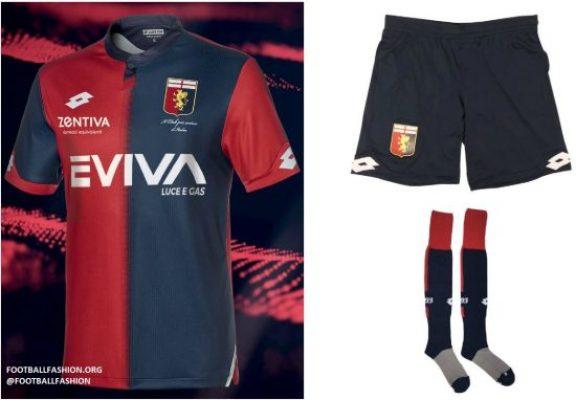 Genoa CFC 2018 2019 Lotto Home Football Kit, Soccer Jersey, Shirt. Gara. Maglia