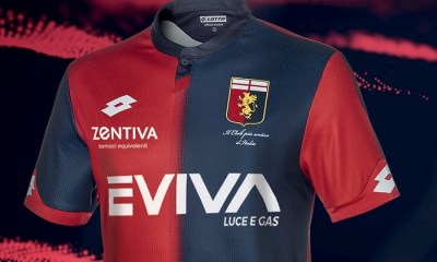 Genoa CFC 2018 2019 Lotto Home Football Kit, Soccer Jersey, Shirt. Gara. Maglia