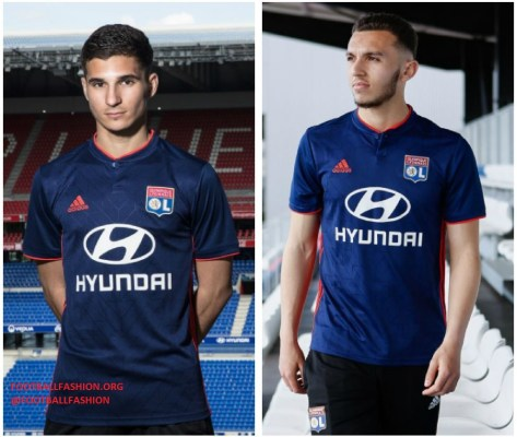 Olympique Lyon 2018 2019 adidas Home and Away Football Kit, Soccer Jersey, Shirt, Maillot, Tenue