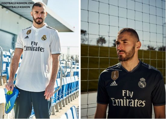 Real Madrid 2018 2019 adidas Home and Away Football Kit, Soccer Jersey, Shirt, Camiseta, Camisa, Equipacion, Maillot, Trikot, Tenue, Camisola, Dres