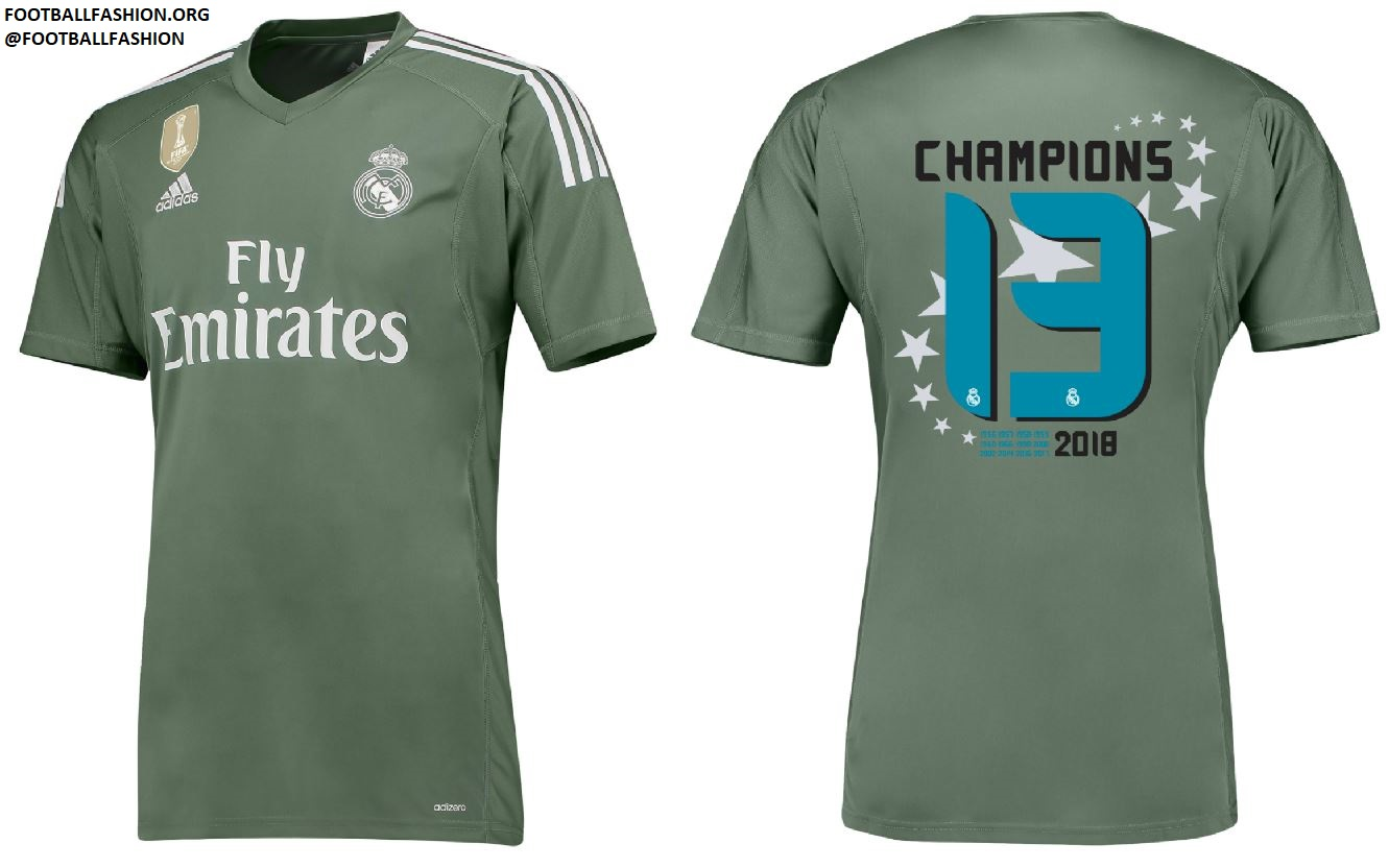 watch cdd54 8adca Real Madrid 2018 UEFA Champions League Winners Shirts ...