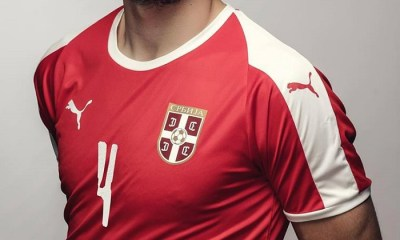 Serbia 2018 World Cup PUMA Home Football Kit, Soccer Jersey, Shirt, Dres, Srbije