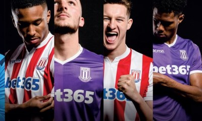 Stoke City FC 2018 2019 Macron Home and Away Football Kit, Soccer Jersey, Shirt
