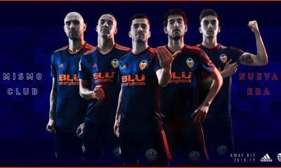 Valencia CF 2018 2019 adidas Away Football Kit, Soccer Jersey, Shirt, Camiseta de Futbol, Camisa, Equipacion