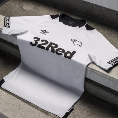Derby County 2018 2019 Umbro Home Football Kit, Soccer Jersey, Shirt
