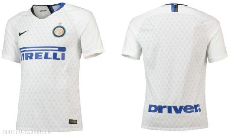 dbe77720b0c The Inter Milan club crest is trimmed in gold. The neckline celebrates the  club s iconic home colors