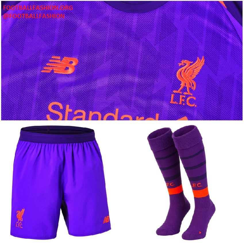 new arrival df93d 39e3e Liverpool FC 2018/19 New Balance Away Kit - FOOTBALL FASHION.ORG