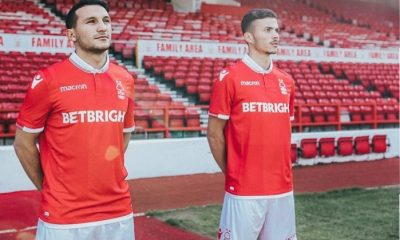 Nottingham Forest 2018 2019 Macron Home Football Kit, Soccer Jersey, Shirt